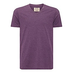 Burton - Aubergine v-neck basic t-shirt*