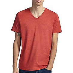 Burton - Brick marl basic v-neck t-shirt*