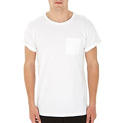 Burton - White roll sleeve t-shirt*