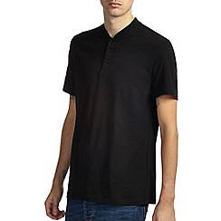 Burton - Black baseball neck t-shirt*
