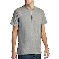 Burton - Grey marl baseball neck t-shirt*