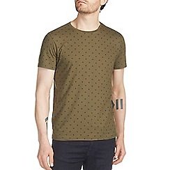 Burton - Khaki all over spot print t-shirt