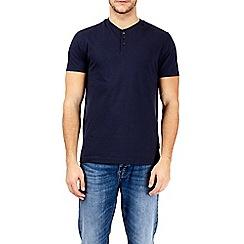 Burton - Navy grandad t-shirt
