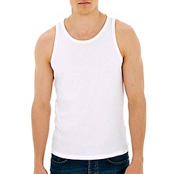 Burton - White basic ribbed vest