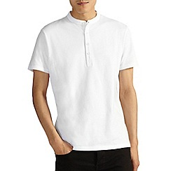 Burton - White grandad collar t-shirt