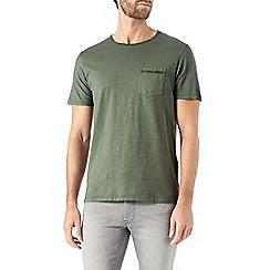 Burton - Khaki garment dyed t-shirt