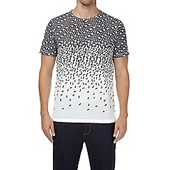 Burton - Black and white geometric breakaway print t-shirt