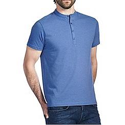 Burton - Blue marl grandad t-shirt
