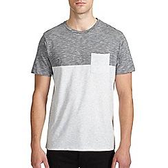 Burton - Grey cut & sew pocket t-shirt