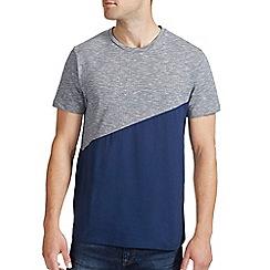 Burton - Navy cut & sew panel t-shirt
