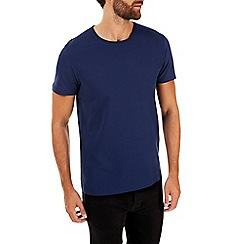 Burton - Navy textured front t-shirt