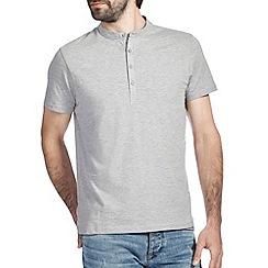 Burton - Grey marl grandad t-shirt