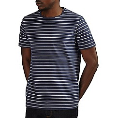Burton - Navy & white stripe t-shirt