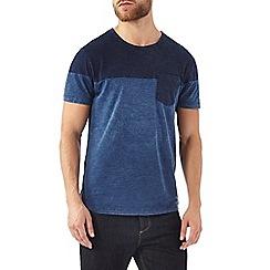 Burton - Indigo cut and sew pocket t-shirt