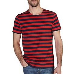 Burton - Red & navy stripe t-shirt