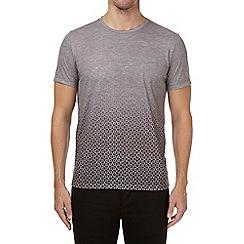 Burton - Grey geometric print faded t-shirt
