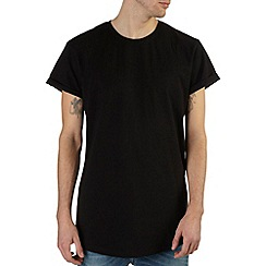 Burton - Black longline roll sleeve t-shirt