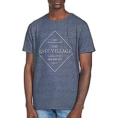 Burton - Navy east village front print t-shirt