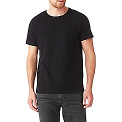 Burton - Black textured ribbed t-shirt