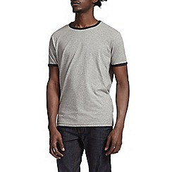 Burton - Grey & navy ringer t-shirt