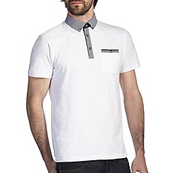 Burton - White oxford polo shirt