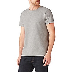 Burton - Grey textured ribbed t-shirt