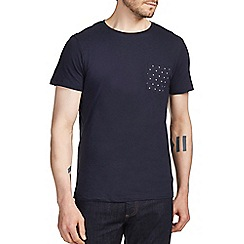 Burton - Navy printed pocket t-shirt