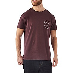 Burton - Purple printed pocket t-shirt