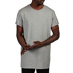 Burton - Grey marl longline t-shirt