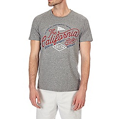 Burton - Grey grindle california print t-shirt