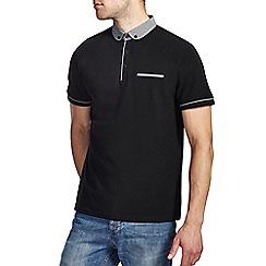 Burton - Black polka dot collar polo shirt