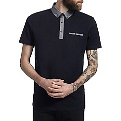 Burton - Navy smart polo shirt