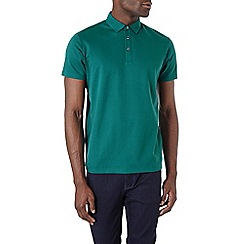 Burton - Green honeycomb textured polo shirt