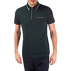 Burton - Green double collar polo shirt