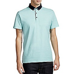 Burton - White & green printed polo shirt