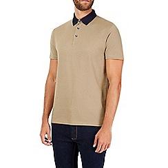 Burton - Camel geo print polo shirt