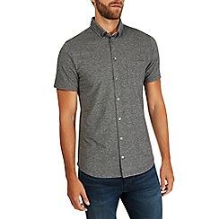 Burton - Grey jersey pique shirt
