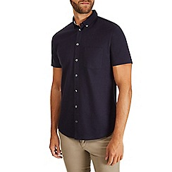 Burton - Navy jersey pique shirt