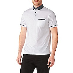 Burton - White spot collar polo shirt
