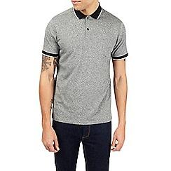 Burton - Grey grindle polo shirt