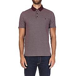 Burton - Burgundy jacquard polo shirt