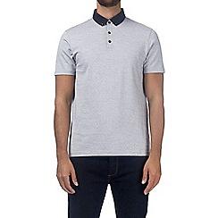 Burton - Light grey jacquard polo shirt