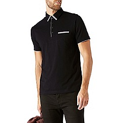 Burton - Black tipped smart polo shirt