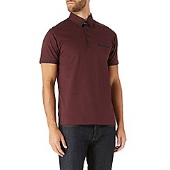 Burton - Burgundy tipped smart polo shirt