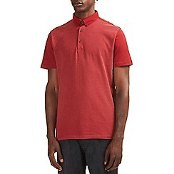 Burton - Red jacquard polo shirt