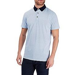 Burton - Blue ditsy print polo shirt