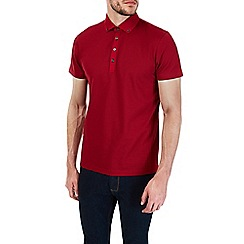 Burton - Red pique polo shirt