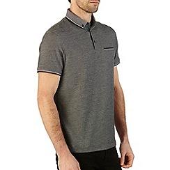 Burton - Grey pique polo shirt