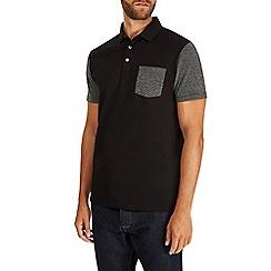 Burton - Black pocket and sleeve polo shirt