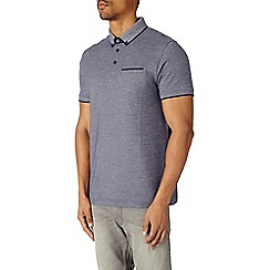 Burton - Navy birdseye polo shirt